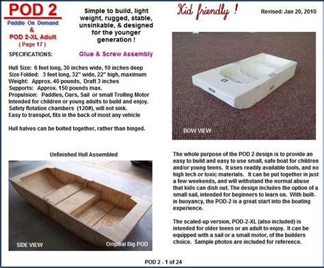 foldable boat plans free portable boat plans