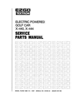 service manual online car repair manuals free 1986 buick electra parking system service ezgo 22338g1 1986 1987 service parts manual for electric golf car by ezgo 68 50 used for 1986