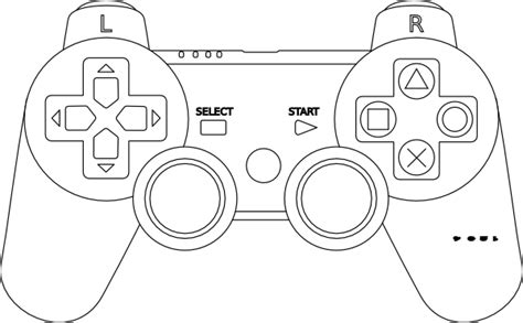 coloring page xbox controller game console controller outline clip art at clker com