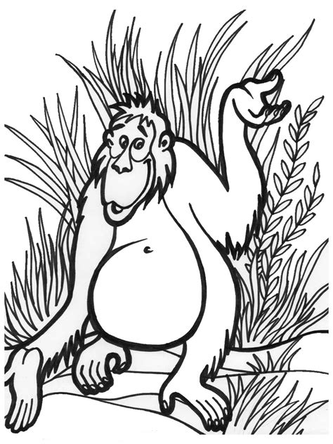 printable coloring pages jungle jungle coloring pages 7 coloring kids