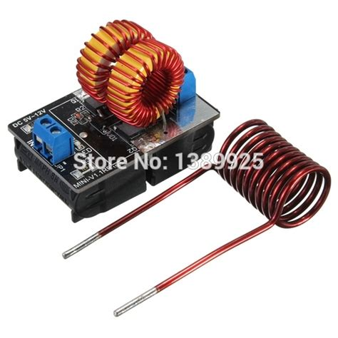 induction heater low power 5 12v zvs low voltage induction heating power supply module induction heating board for