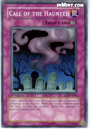 Yugioh Call Of The Haunted Original inmint yugioh common card singles call of the haunted sd3 en028 1st edition