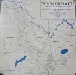 Louisiana Bayou Map by Bayou Boeuf History
