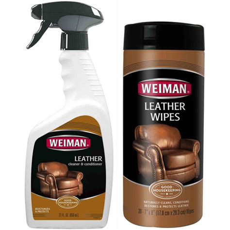 Leather Cleaning by Weiman Leather Cleaner Conditioner Care Set 2 Pc