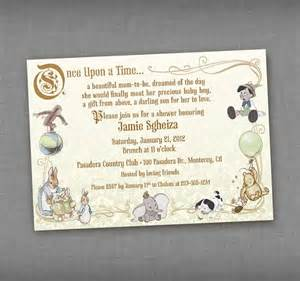 vintage storybook baby shower printable invitation