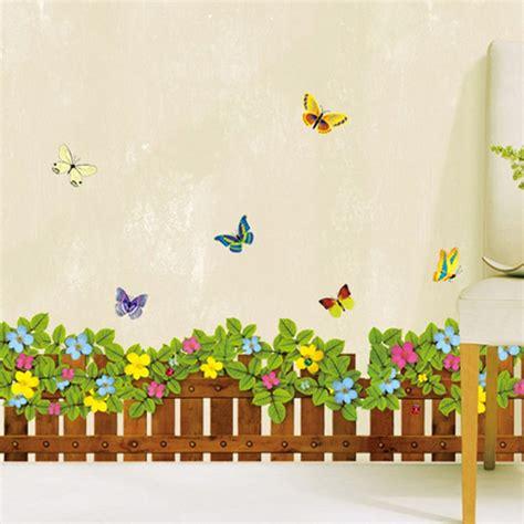 Wall Sticker Warna Warni jual hiasan dinding stiker pagar bunga warna warni jm8262