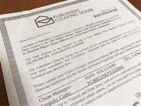 Publishers Clearing House Scam Letter - publishers clearing house scam returns alton daily news