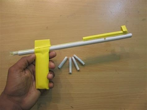 How To Make A Paper Bullet - how to make a simple paper gun that shoots paper bullet