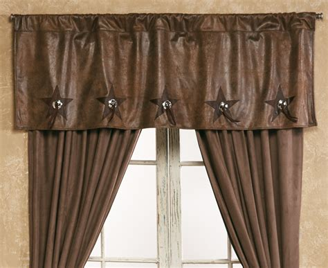 western curtains and valances wyoming concho star valance