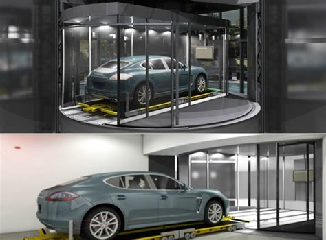 porsche design tower car elevator porsche design tower