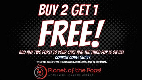 Sale Alert Bevmos Buy One Get One For 5 Sale by Black Friday Alert Planet Of The Pops Buy 2 Get 1 Free