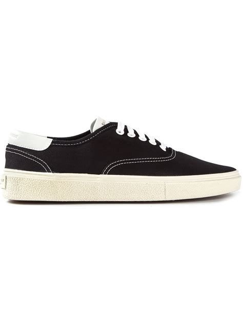 laurent mens sneakers laurent skate laceup shoes in black for lyst
