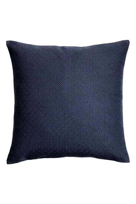 jacquard weave cushion cover blue gold bedroom linen