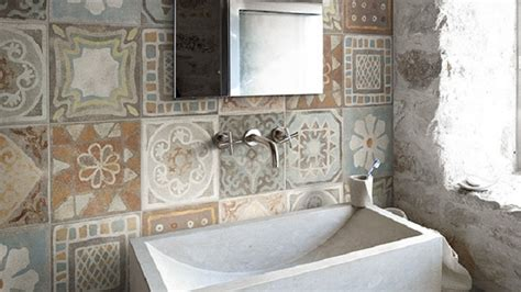 piastrelle per bagno rustico rustico