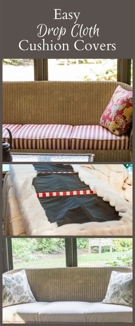 how to sew sofa cushion covers drop cloths cushion covers and cloths on pinterest
