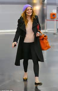 lindsay lohan wears two for a day of travel