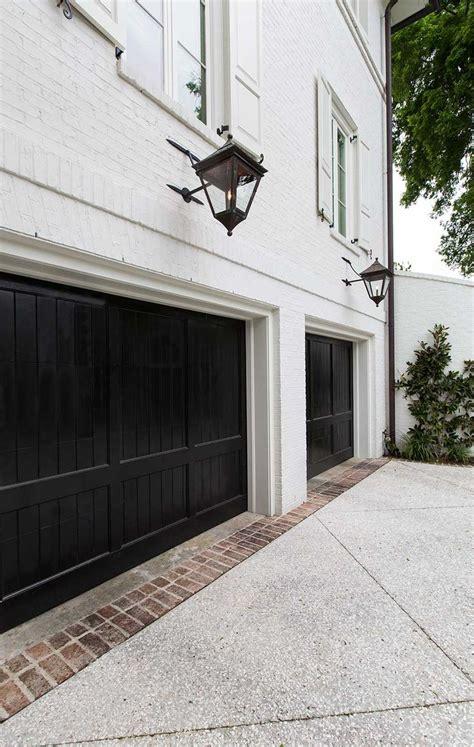 Black Garage Doors Black Trim Is The Decorating Accent