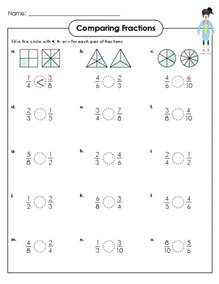 comparing fractions activity 4th grade equivalent