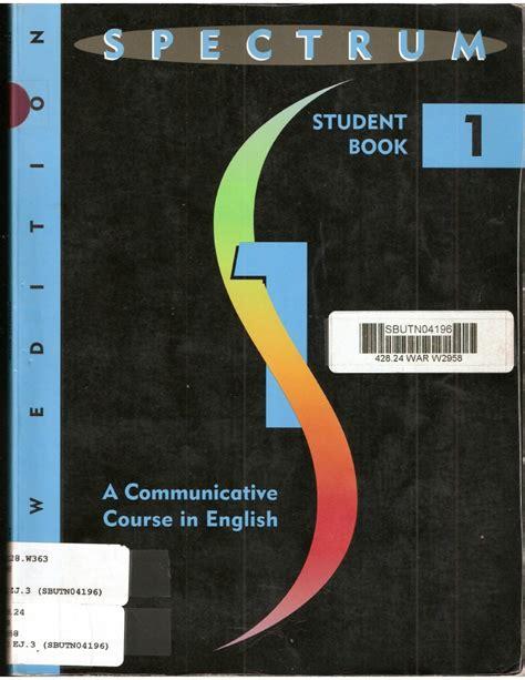 libro spectrum 3 students book libro spectrum student book 1 part