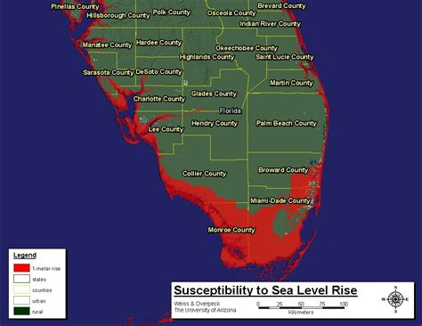 sea level rise florida map florida reprimands state worker for violating climate