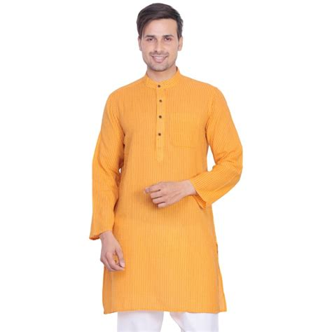 kurta colors men s kurta online in india cotton fabric in yellow