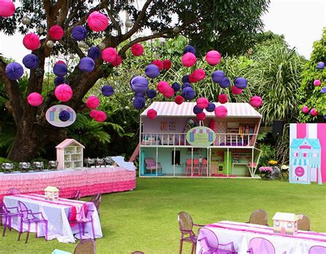 dolls house for 1 year old a dollhouse themed party garden set up a dollhouse party for a 6 year old