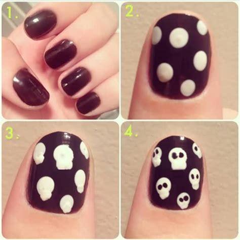 halloween nail art tutorial skulls 55 latest halloween nail art designs