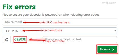 reset gotv online clear gotv error