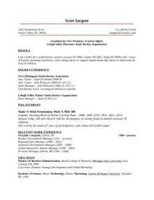 Resume Examples Youth by One Page Youth Development Manager Resume Template