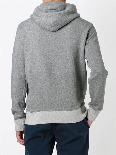 Jaket Sweater Hoodies Kasual Pria Rrl 004 polo ralph kangaroo pocket hoodie in gray for