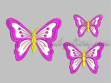 embroidery design butterfly butterflies machine embroidery