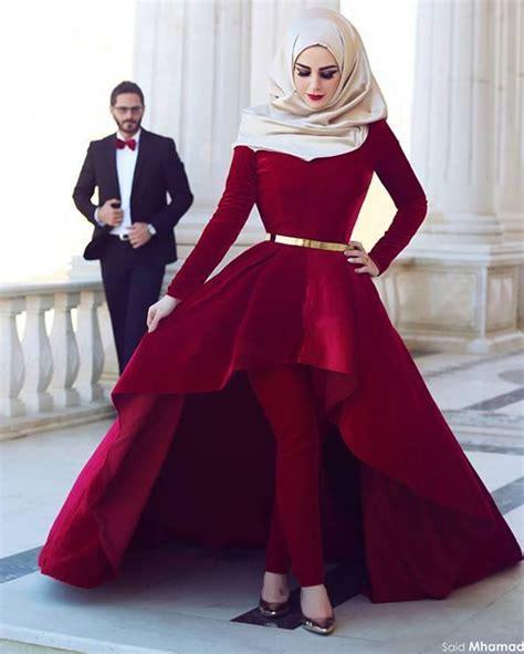 Dress Arabic Bordir Maroon arabic kaftan in dubai abayas 2016 sleeve burgundy high low prom dresses new formal dress