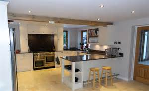 Open Floor Plans With Large Kitchens high specification domestic extension now complete