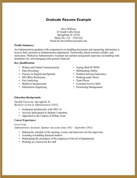 Entry Level Resume No Experience Latest Resume Format