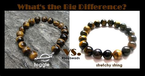 BOYBEADS  Custom Beaded Bracelets for Men New York, NY: Toggle vs. Stretchy String Bracelets