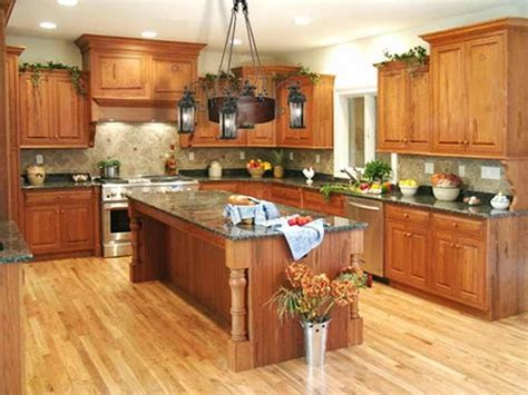 best paint color ideas for kitchen with oak cabinets