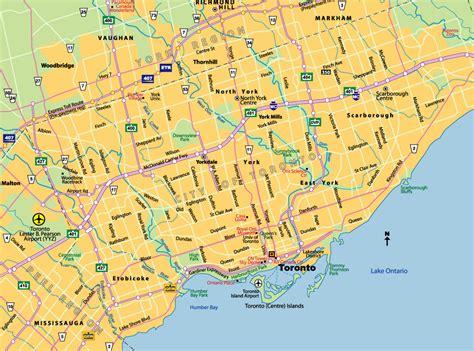 canadian map toronto toronto canada map