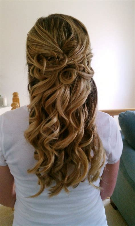 Wedding Bridesmaid Hairstyles Half Up by Half Up Half Wedding Hairstyles From The Back View