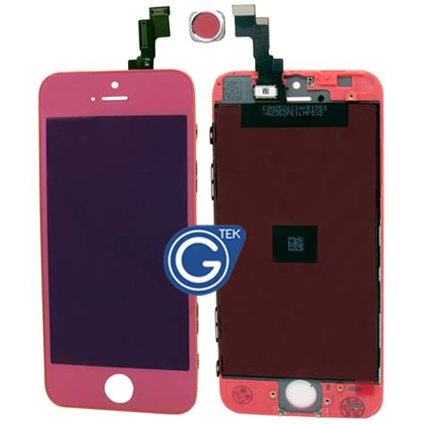 Spare Part Lcd Iphone 5s iphone 5s complete lcd and digitizer with frame in mirror pink replacement part