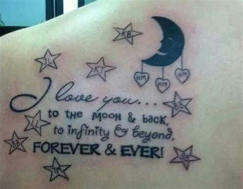 infinity tattoo i love you to the moon and back 1000 images about tattoo ideas on pinterest back to