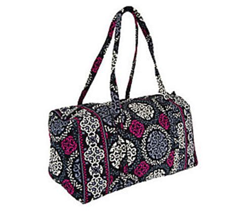 Printable Vera Bradley Gift Card - vera bradley signature print double handle large duffel qvc com