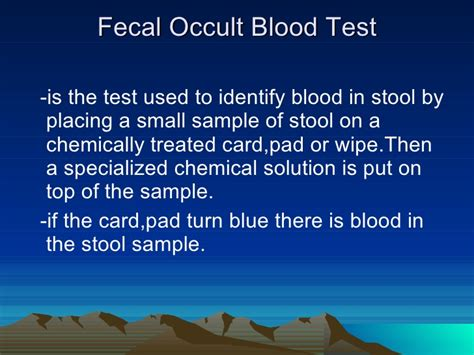 How To Detect Blood In Stool by Complete Blood Count