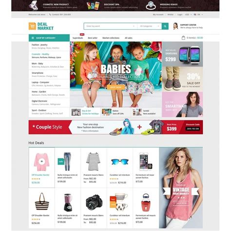 template prestashop dealmarket fashion store responsive prestashop theme