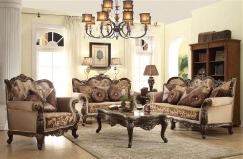Cherry Wood Trim Classic Living Room Set 610 Cherry Wood Living Room Furniture
