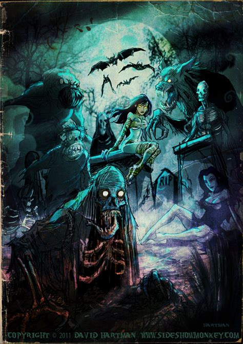 cemetery creepshow by hartman by sideshowmonkey on deviantart