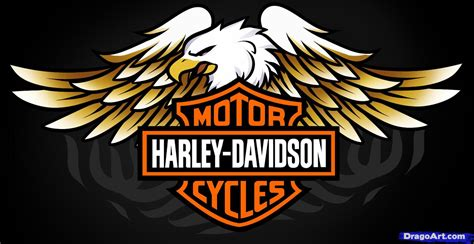 Tutorial Logo Harley Davidson | how to draw harley davidson logo harley davidson step by