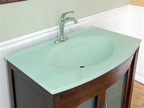 tempered glass vanity top with integrated sink 39 5 quot bonito single bath vanity walnut bathgems com