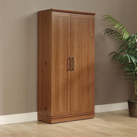 sauder double door storage cabinet large dakota oak sauder double door storage cabi large floors doors
