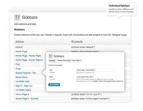 wordpress layout sidebar unlimited sidebars