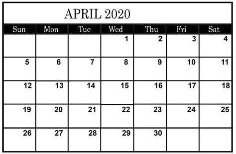 april calendar  printable  template  platform  digital solutions april calendar
